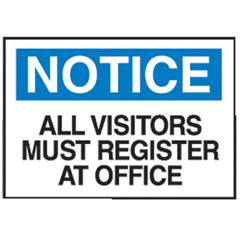 BRY262-95278 - BradyAdmittance Signs