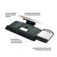 MMMAKT80LE - 3M Knob Adjust Keyboard Tray with Highly Adjustable Platform