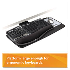 MMMAKT70LE - 3M Positive Locking Keyboard Tray with Standard Platform