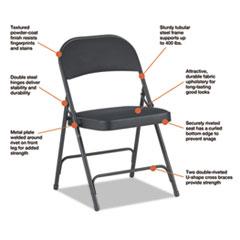 ALEFC97B - Alera® Steel Folding Chair with Two-Brace Support