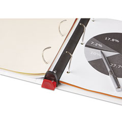 UNV30712 - Universal® Deluxe Plus D-Ring View Binder with Comfort Lock