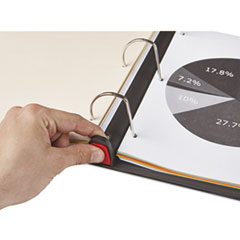 UNV30731 - Universal® Deluxe Plus D-Ring View Binder with Comfort Lock