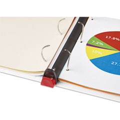 UNV30752 - Universal® Deluxe Plus D-Ring View Binder with Comfort Lock