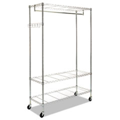 ALEGR364818SR - Wire Shelving Garment Rack, Coat Rack, Stand Alone Rack w/Casters, Silver