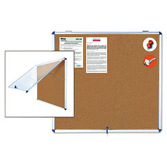 BVCVT380101150 - MasterVision® Slim-Line Enclosed Cork Bulletin Board