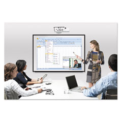 BVCBI1591720 - Interactive Magnetic Dry Erase Board, 90 x 52 7/10 x 4 1/5, White/Black Frame
