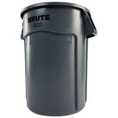 RCP264360GY - Rubbermaid® Commercial Vented Round Brute® Container