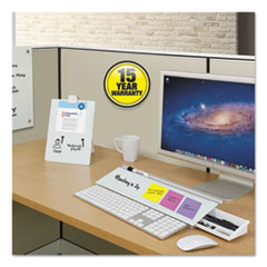 QRTPDEC1830 - Infinity Magnetic Glass Dry Erase Cubicle Board, 18 x 30, White