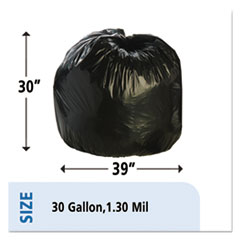 STOT3039B13 - Stout® Total Recycled Content Low Density Trash Bags