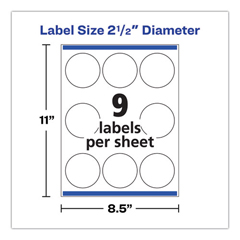 AVE22830 - Avery® Print-to-the-Edge Round Labels