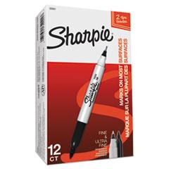 SAN32001 - Sharpie® Twin-Tip Permanent Marker, 1 Dozen