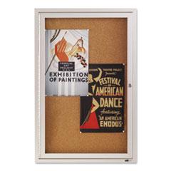 QRT2363 - Quartet® Enclosed Indoor Cork Bulletin Board with Hinged Doors