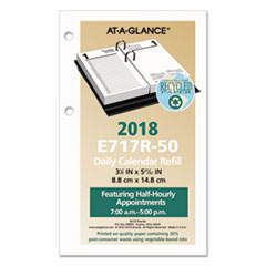 AAGE717R50 - Recycled Desk Calendar Refill, 3 1/2 x 6, White, 2020