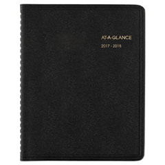 AAG7012705 - Monthly Planner, 8 3/4 x 6 7/8, Black, 2019-2020