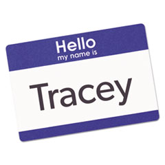 AVE5141 - Avery® Blue Border Hello Removable Adhesive Print or Write Name Badge Labels