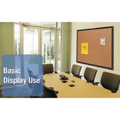 QRT2303B - Quartet® Cork Bulletin Board with Black Frame