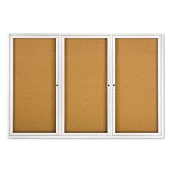 QRT2367 - Quartet® Enclosed Indoor Cork Bulletin Board with Hinged Doors