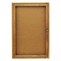 QRT363 - Quartet® Enclosed Indoor Cork Bulletin Board with Hinged Doors