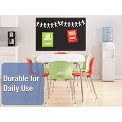 QRT7684BK - Quartet® Oval Office™ Fabric Board