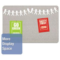 QRT7683G - Quartet® Oval Office™ Fabric Board