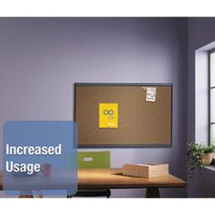 QRTB244G - Quartet® Prestige™ Colored Cork Bulletin Board