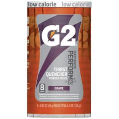 PFY308-13167 - Gatorade - G2 Powder Packets, Grape, 0.52 oz, Packet, 8 Per Case