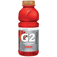PFY308-20405 - GatoradeG2 20 oz. Wide Mouth, Fruit Punch, Bottle, 24 Per Case