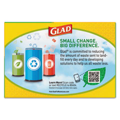 CLO78542 - Glad® Tall Kitchen Blue Recycling Bags