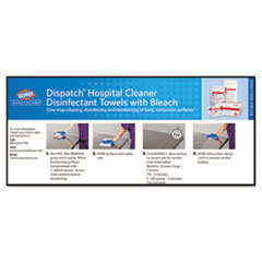 CLO69260 - Caltech Dispatch Hospital Cleaner Disinfectant Towels with Bleach