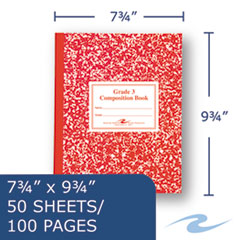 ROA77922 - Roaring Spring® Grade School Ruled Composition Book