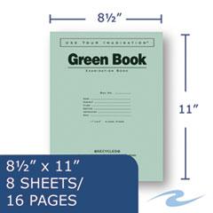 ROA77509 - Roaring Spring® Green Books Exam Books