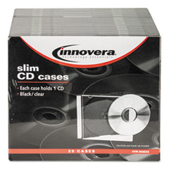 IVR85825 - Innovera® CD/DVD Polystyrene Thin Line Storage Case