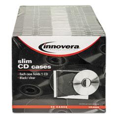 IVR85826 - Innovera® CD/DVD Polystyrene Thin Line Storage Case