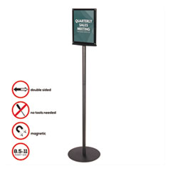 DEF692056 - deflect-o® Double-Sided Magnetic Sign Stand