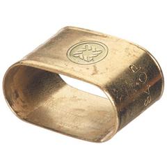 WSE312-9940-P - Western EnterprisesOval Brass Dual Hose Braces