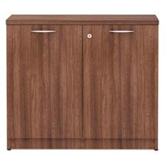 ALEVA613622WA - Valencia Series Storage Cabinet, 34w x 22 3/4d x 29 1/2h, Modern Walnut