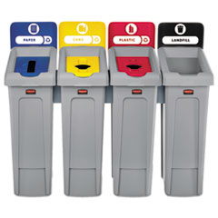 RCP2007919 - Rubbermaid® Commercial Slim Jim Recycling Station Kit
