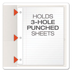 OXF57704 - Oxford® Twin-Pocket Portfolios with Tang Fasteners
