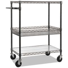 ALESW543018BA - Alera® Wire Shelving Three-Tier Rolling Cart