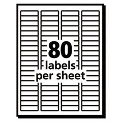 AVE48467 - EcoFriendly Laser/Inkjet Easy Peel Return Address Labels