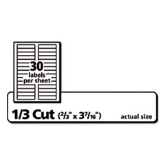 AVE75366 - Avery® Permanent File Folder Labels with TrueBlock™ Technology