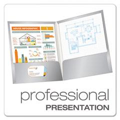 OXF51705 - Oxford® Laminated Two-Pocket Portfolio