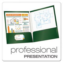 OXF51717 - Oxford® Laminated Two-Pocket Portfolio