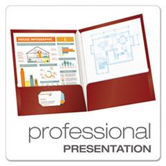 OXF51718 - Oxford® Laminated Two-Pocket Portfolio