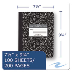 ROA77230 - Roaring Spring® Marble Cover Composition Book