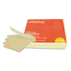 UNV35673 - Universal® Standard Self-Stick Yellow Color Note Pads