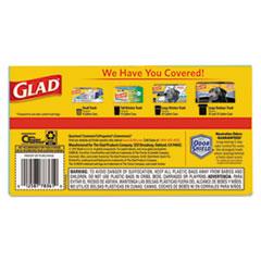 CLO78361 - Glad® OdorShield Kitchen Drawstring Bags, Fresh Clean, 13 gal, White