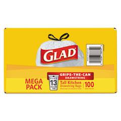 CLO78526CT - Glad® Tall Kitchen Drawstring Trash Bags