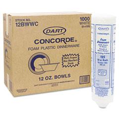DCC12BWWCR - Dart Concorde® Non-Laminated Foam Plates