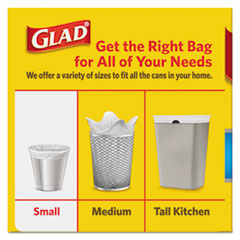 CLO78812 - OdorShield Small Trash Bags, 8 x 9 x 18, 0.5mil, White, 26/Box, 6 Boxes/Carton